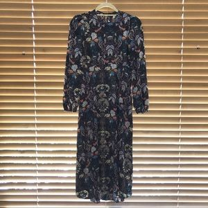 Zara Long Sleeved Midi Dress
